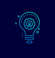 cyber security neon icon with blue background vector image vector image