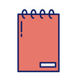 daily planner notebook line and fill style icon vector image vector image
