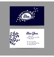 Design business card with floral ornament vector image vector image