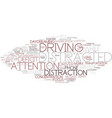 Distraction word cloud concept vector image