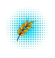Ear of barley icon comics style vector image vector image