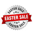 easter sale round isolated silver badge vector image vector image