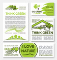 eco green business banner template set design vector image