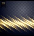 elegant golden light line effect background vector image vector image