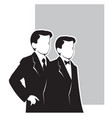 elegant mens suits vector image vector image