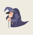 fairy tale characters old witch vector image