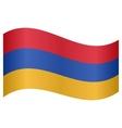 Flag of Armenia waving vector image vector image