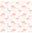 flamingo birds seamless tropical pattern vector image vector image