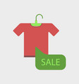 flat icon of sale t-shirt vector image