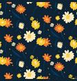 floral seamless pattern yellow white vector image