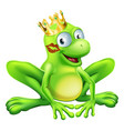 frog prince cartoon vector image