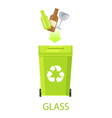glass garbage isolated on white poster vector image