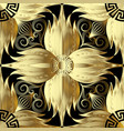 gold 3d flowers seamless pattern abstract floral vector image vector image