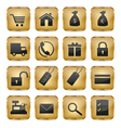 Golden Shop Icons vector image