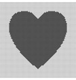 heart shaped background from black squares - vector image vector image
