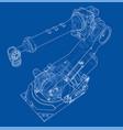 industrial robot manipulator image vector image