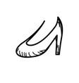 line beautiful high heel shoes design vector image vector image