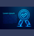 low poly quality icon check check mark and vector image vector image