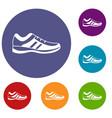 men sneakers icons set vector image vector image