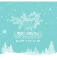 merry christmas landscape vector image