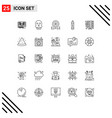 modern set 25 lines pictograph database