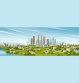 panorama cityscape of middle kuala lumpur famous vector image
