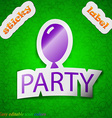 Party icon sign Symbol chic colored sticky label vector image