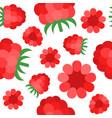 raspberries seamless pattern flat design vector image vector image