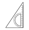 ruler angle icon outline style vector image