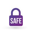 security icon safe lock icon padlock symbol vector image vector image