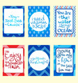set of banners cards and flyers card templates in vector image vector image