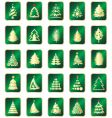 set of Christmas tree vector image vector image