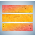 Set of watercolor horizontal backgrounds vector image vector image
