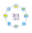 set technology data center connection vector image vector image