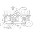 small cosy village house vector image