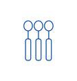 spoon line icon concept spoon flat symbol vector image vector image