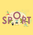 sport concept flat style design vector image vector image