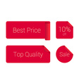 Stylish set of red sticker vector image
