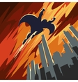 Super hero flying in the sky vector image vector image
