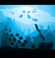 underwater world with marine life vector image