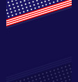 us abstract flag symbols background border vector image vector image
