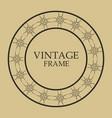 vintage retro frame vector image vector image