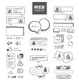 web chat dialogs vector image