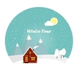 wonderful winter morning christmas vector image