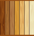 wood collections realistic texture design vector image vector image