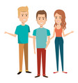 young people avatars group vector image vector image