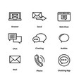 high quality line chat icon vector image