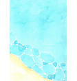 abstract beach watercolor hand painting background vector image