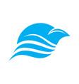 abstract blue bird flying swoosh lines design vector image vector image