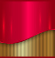 abstract cherry red and gold metallic background vector image vector image